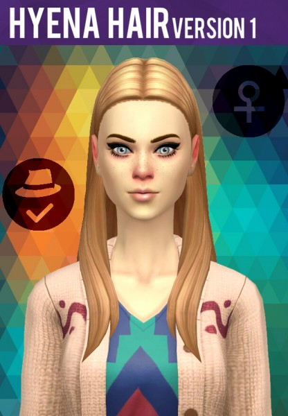 Simduction: Hyena Hair V1 for Sims 4