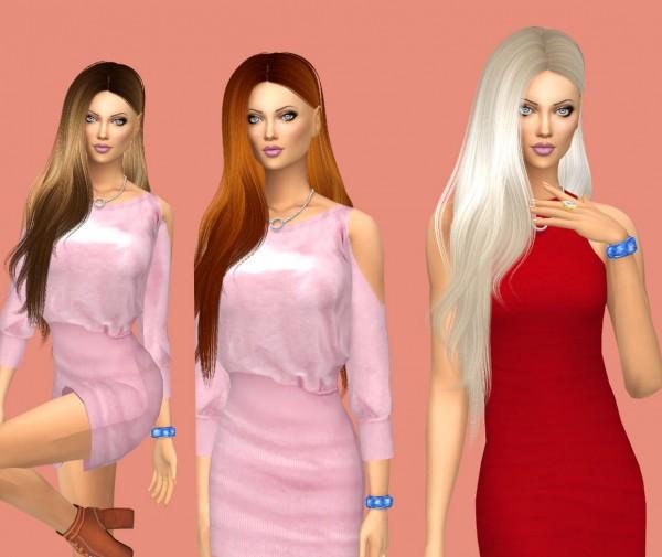 Sims Fun Stuff: Leahlillith`s Heartburn hair retextured for Sims 4