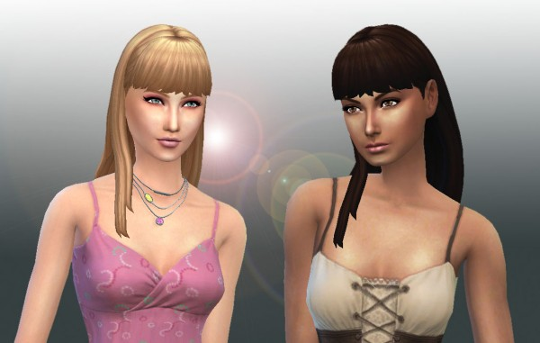 Mystufforigin: Straight With Bangs for Sims 4