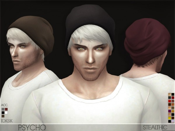 Stealthic: Psycho Male Hair for Sims 4