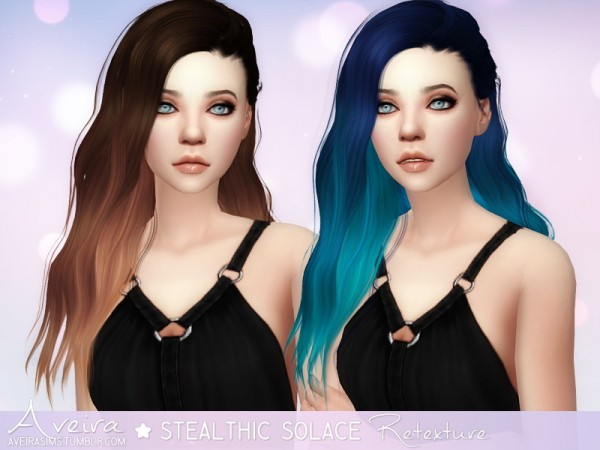 Aveira Sims 4: Stealthic`s Solace hair retextured for Sims 4