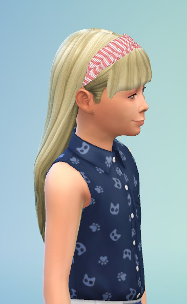Birksches sims blog: Hair with Headband for girls for Sims 4