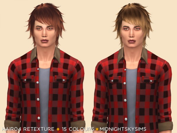 Simsworkshop: Hair 04 Retextured by midnightskysims for Sims 4