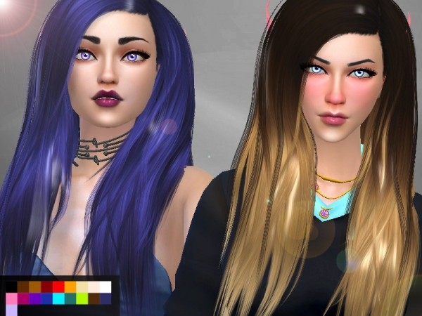 Genius6613: Stealthic`s Misery hair retextured for Sims 4