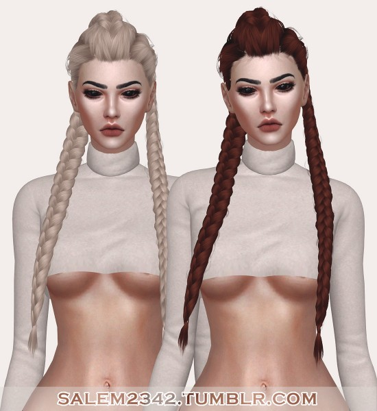 Salem2342: LeahLillith`s Creature hair retextured for Sims 4