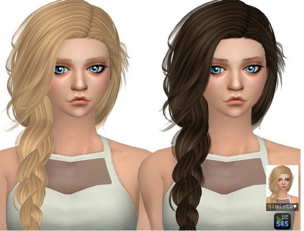 The Sims Resource: Stealthic`s Summer Haze hair retextured for Sims 4