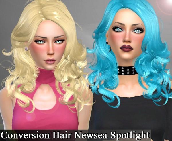 Genius6613: Newsea`s Spotlight hair retextured for Sims 4
