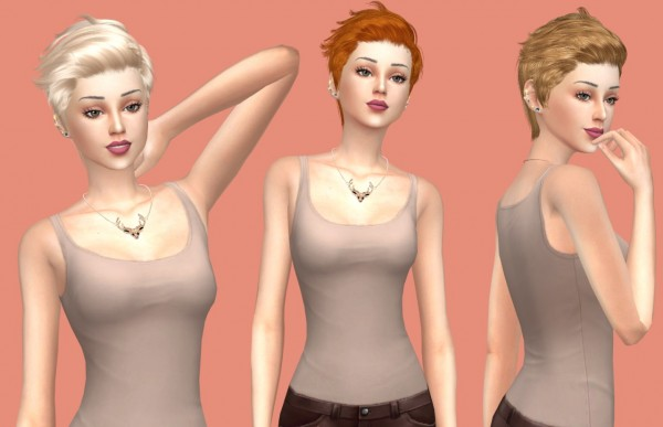 Sims Fun Stuff: Newsea`s Soledad hair retextures for Sims 4