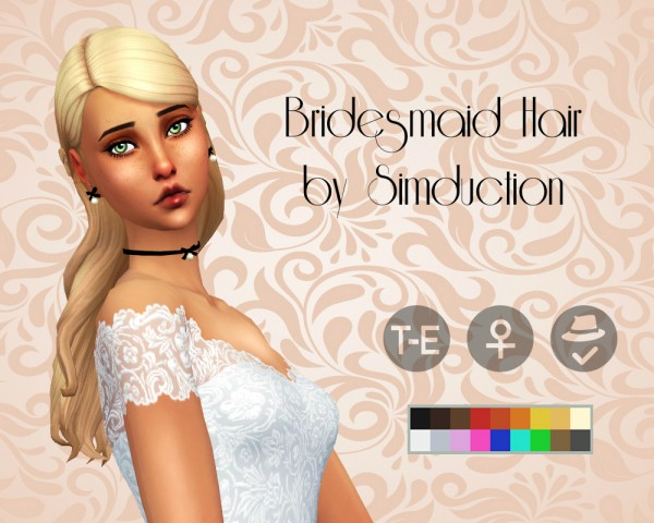 Simduction: Bridesmaid Hair for Sims 4