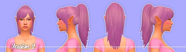 Nolan Sims: Vivian Hair V1   Bun and V2   Pony for Sims 4