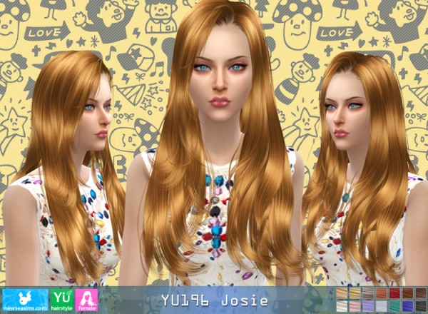 NewSea: YU196 Josie  hair for Sims 4