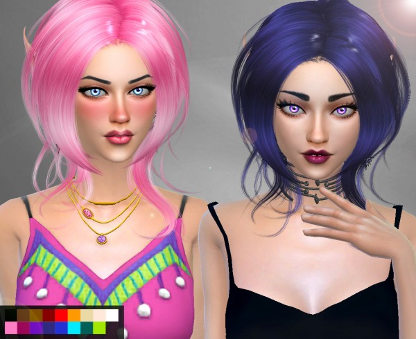 Genius6613: Newsea`s Lazy Day hair retextured for Sims 4
