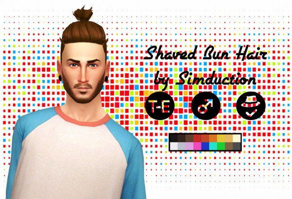 Simduction: Shaved Bun Hair for Sims 4