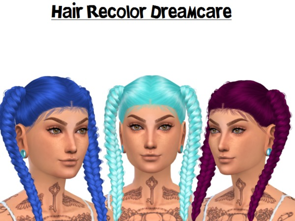 The Sims Resource: Dreamcare hair recolored by Naddiswelt for Sims 4