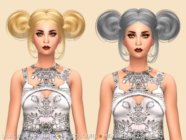 Simsworkshop: Ulala hair retextured by midnightskysims   natural colors for Sims 4