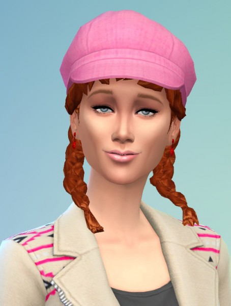 Birksches sims blog: Curly Pigtails for her for Sims 4