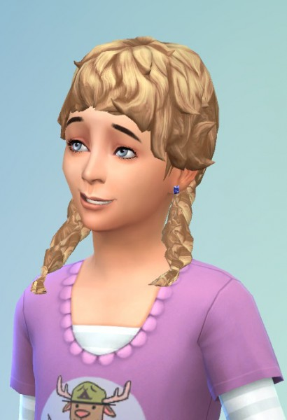 Birksches sims blog: Girly Curl Pigtails for Sims 4