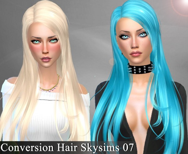 Genius6613: Skysims 07 hair retextured for Sims 4
