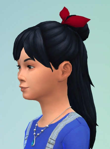 Birksches sims blog: GirlyBun with Bow for Sims 4