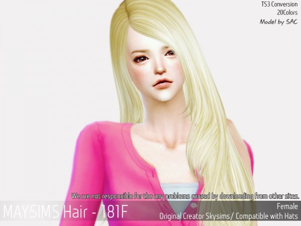 MAY Sims: Hair 181F hair retextured for Sims 4