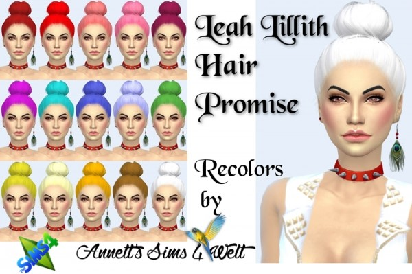 Annett`s Sims 4 Welt: Leahlillith`s Promise Hair Recolored for Sims 4