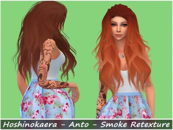 The Sims Resource: Anto`s Smoke Hair Retextured by Hoshinokaera for Sims 4