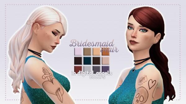Whoohoosimblr: Bridesmaid Hair recolored for Sims 4