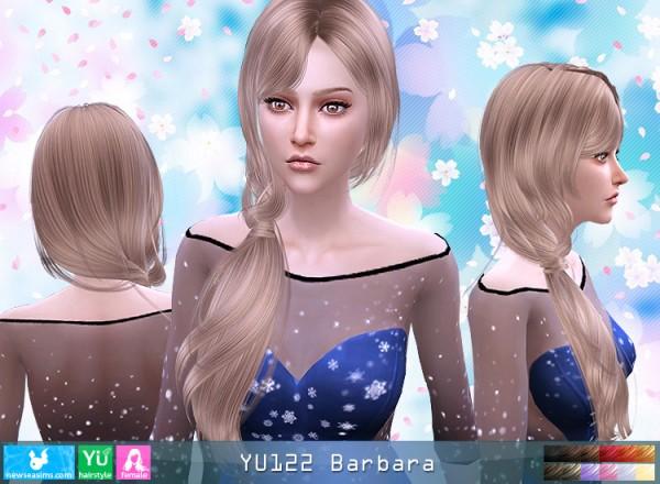 NewSea: YU 122 Barbara hair for Sims 4