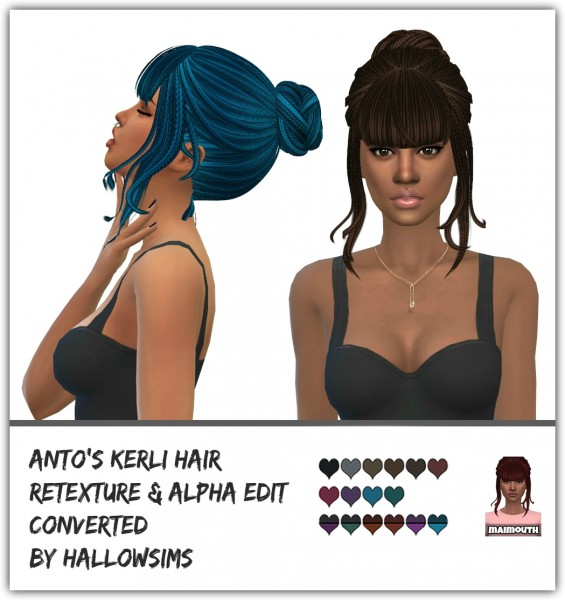 Simsworkshop: Kerli Ethnic hair retextured by maimouth for Sims 4