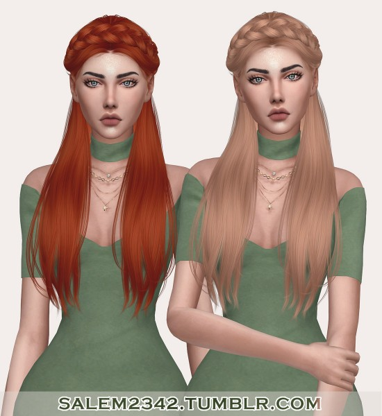Salem2342: Anto`s Surrender hair retextured for Sims 4