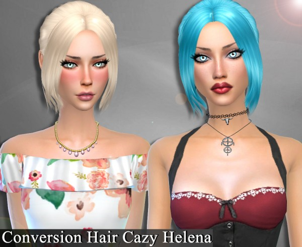Genius6613: Cazy`s Helena hair retextured for Sims 4