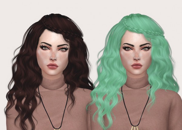 Salem2342: Stealthic`s Genesis hair retextured for Sims 4