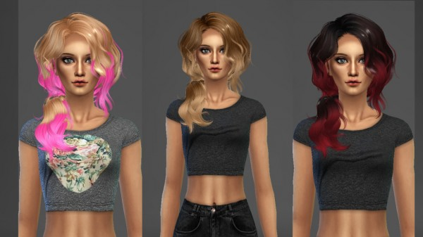 Ardatndr: Newsea`s Vice City converted hair from TS3 to TS4 for Sims 4