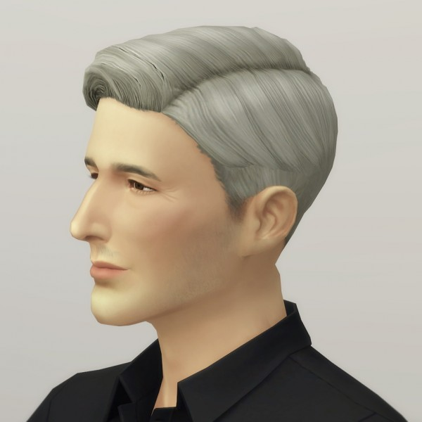 Rusty Nail: Short combed hair M for Sims 4