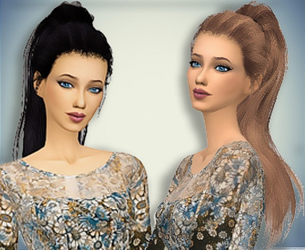 Pllumbobbilypixels: Sthealtic Paradox hair retextured for Sims 4