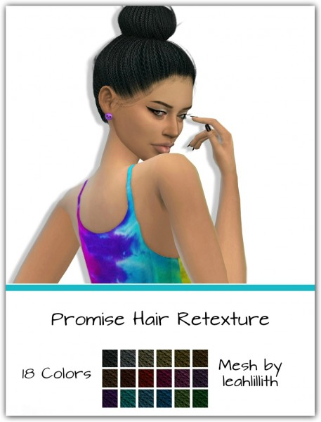 Simsworkshop: Leahlillith`s Promise Hair Retextured by Maimouth for Sims 4