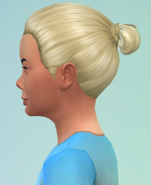 Birksches sims blog: Mini Bun hair for boys for Sims 4