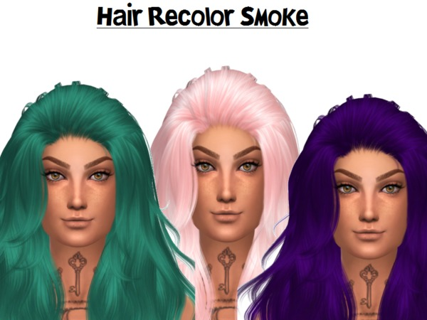 The Sims Resource: Anto`s Smoke Hair Retextured by Naddiswelt for Sims 4