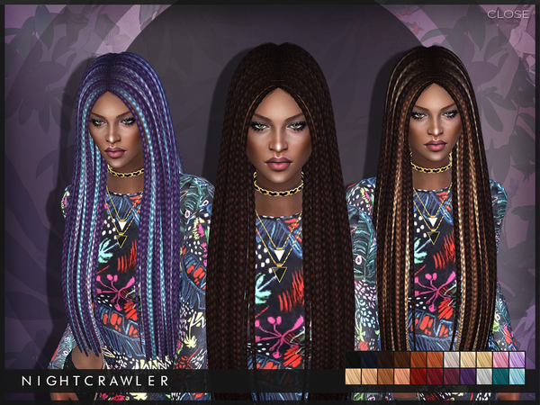 The Sims Resource: Close hair by Nightcrawler for Sims 4