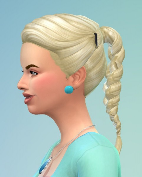 Birksches sims blog: Hairplait with Clips for Sims 4