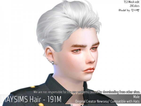 MAY Sims: May Hair 191M for Sims 4
