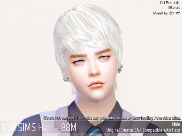 MAY Sims: 88M Hair Bug Fixed for Sims 4