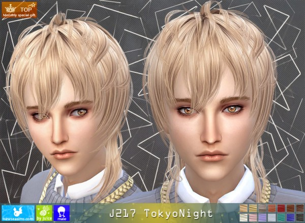 NewSea: J217 Tokyo Nighthair for Sims 4