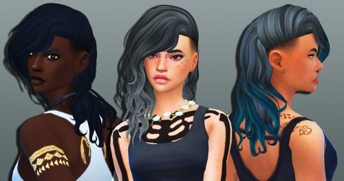 Weepingsimmer: Anto`s Roulette Hair Clayified for Sims 4