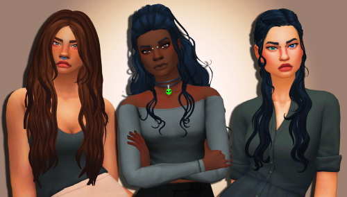 Weepingsimmer: Clayified  hair megapack collab   part 3 for Sims 4