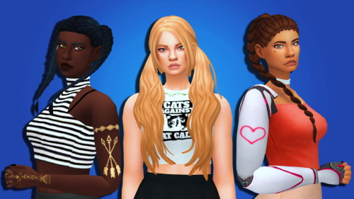 Weepingsimmer: Clayified  hair megapack collab   part 2 for Sims 4