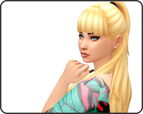 Pixelie: Hannah hair for Sims 4