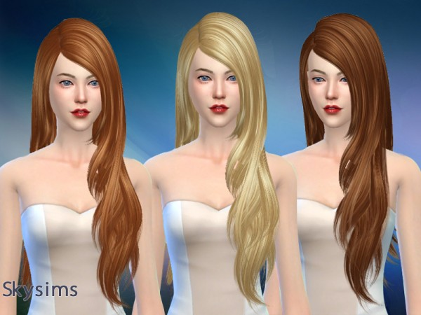 Butterflysims: Hair 207 by Skysims for Sims 4