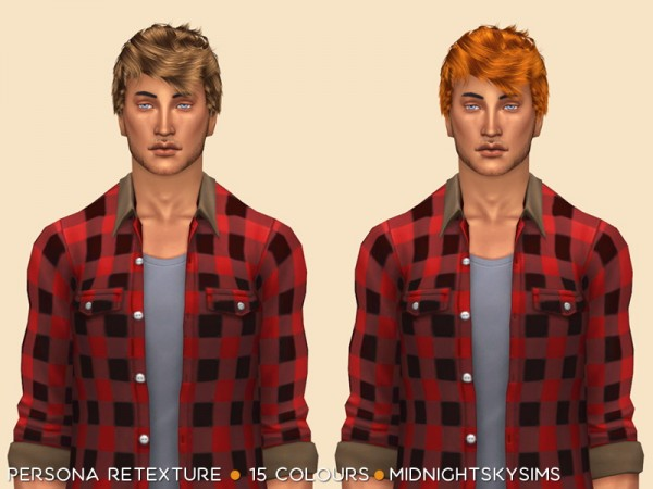 Simsworkshop: Persona Natural Retextured by midnightskysims for Sims 4