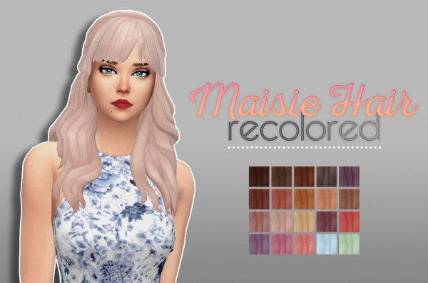 Whoohoosimblr: Maisie Hair for Sims 4
